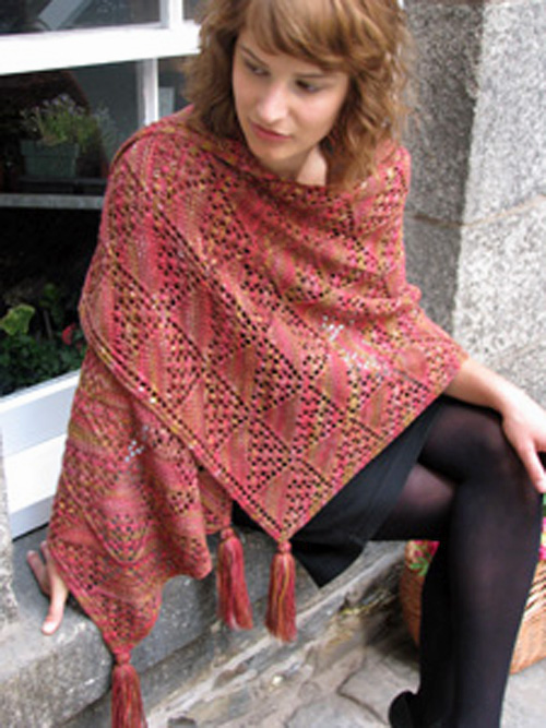 Ilga Leja At the Market shawl pattern