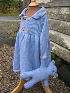 Coat and Teddy knitted by Alicia